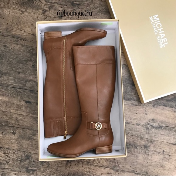5fcd3272019d Michael Kors Harland Leather Riding Boot